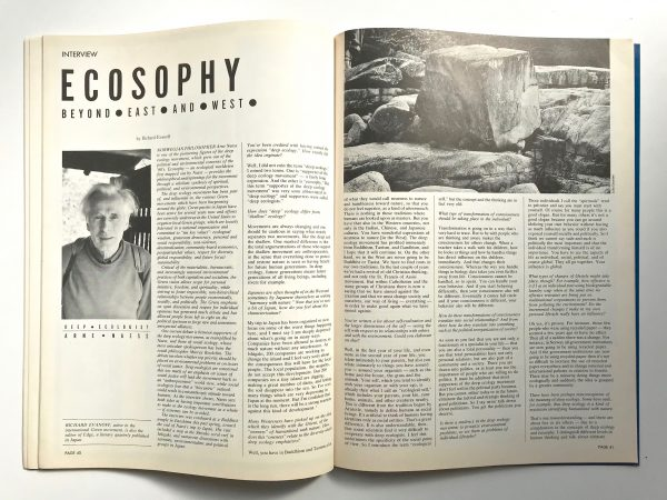 Arne Naess interview kyoto journal ecosophy