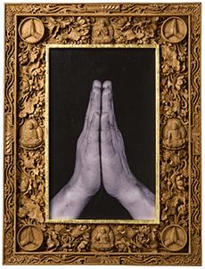 Gassho with frame by Balinese carver Yasu Suzuka