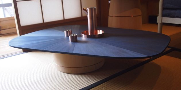 Nakagawa Shuji Kyoto Journal indigo dyed table wood craft handmade Japan kaikado metalwork