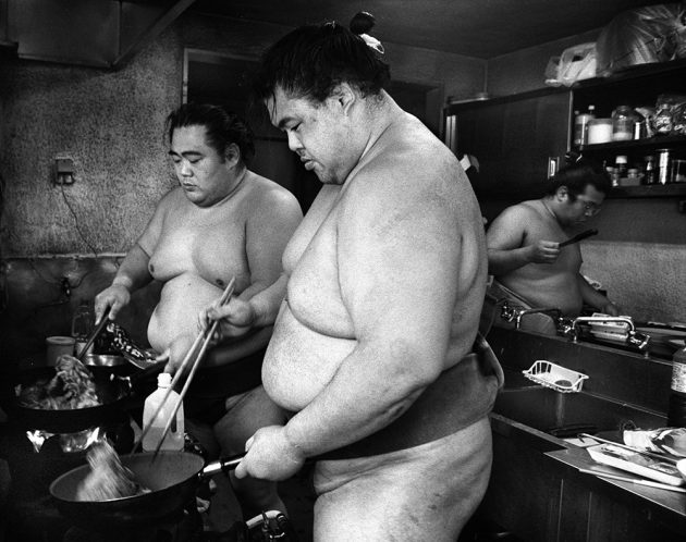 Kyoto Journal sumo wrestler kitchen