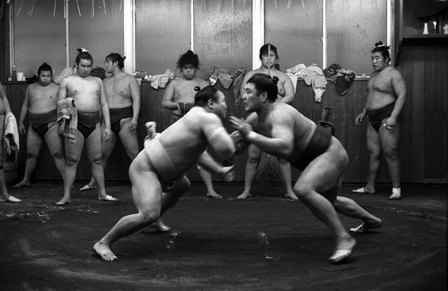 Seki mori Sumo wrestling training Japan Kyoto Journal