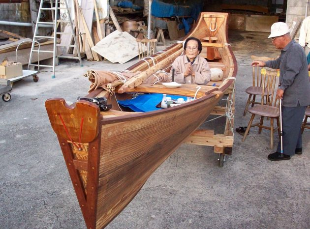 Japanese boatbuilding craft