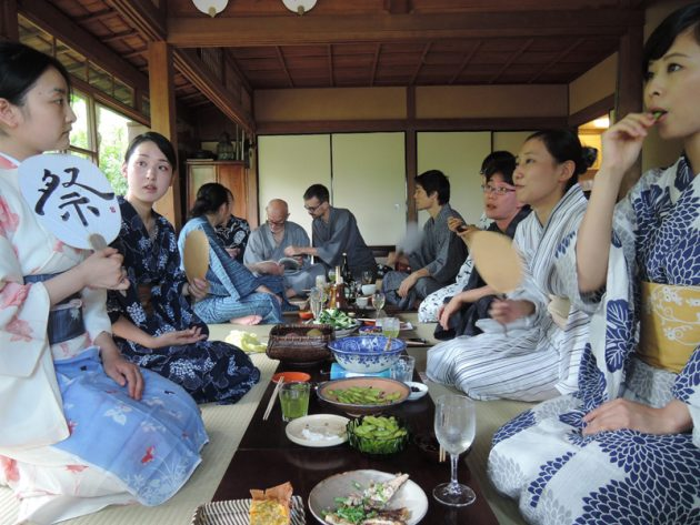 Tea ceremony gathering in Kyoto