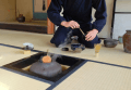 Traditional Japanese tea demonstration in Kyoto