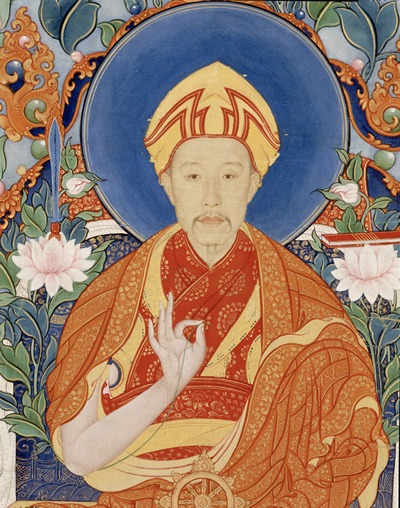 Qianlong as Manjusri by castiglioni
