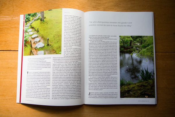 kj wellbeing issue spread garden solace japanese