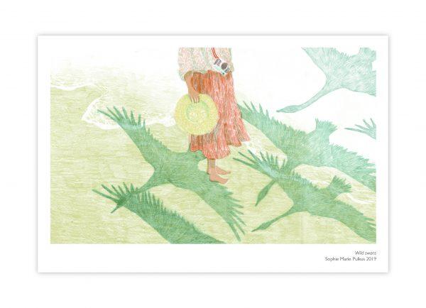 Sophie Marie Pulkus Japan postcard cranes