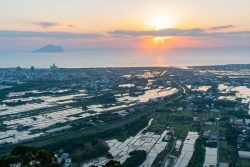 The beautiful sunrise landscape of Lanyang Plain