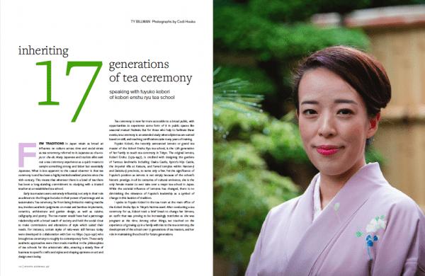 Fuyuko Kobori chanoyu tea ceremony school Enshu Tokyo Japan Kyoto Journal issue 97