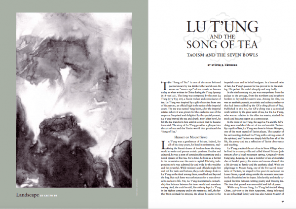 Lu T'ung and the song of tea Kyoto Journal issue