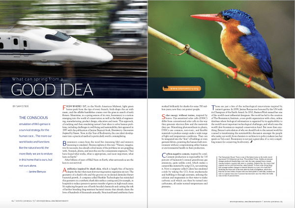 kyoto journal biodiversity bullet train biomimicry