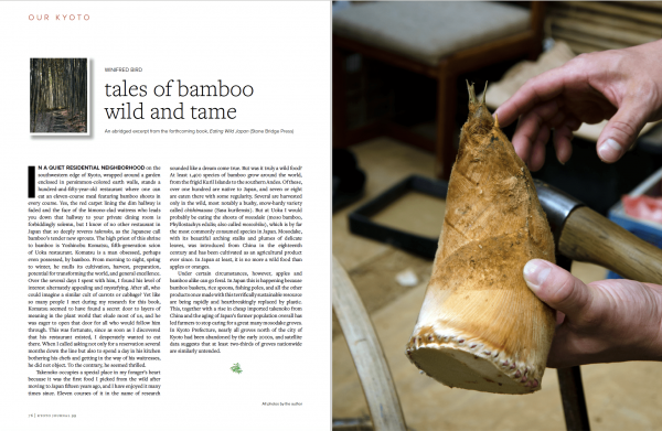 Bamboo foraging Japan food cuisine kyoto journal issue 99 travel revisited