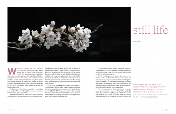 Pico Iyer kyoto journal issue 99 travel revisited