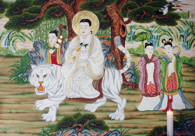 Korean shaman painting